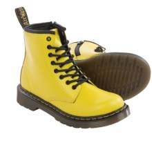 Dr. Martens Delaney Boots - Leather (For Little Kids) in Wild Yellow - Closeouts