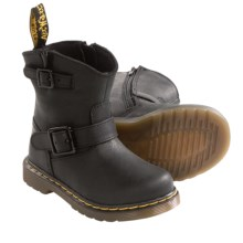 Dr. Martens Jiffy Boots - Leather (For Kids) in Black - Closeouts
