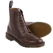 Dr. Martens Olive Leather Boots (For Women) in Dark Brown/Bronze - Closeouts