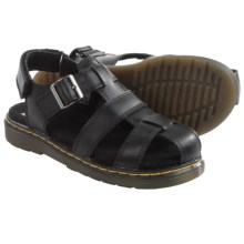 Dr. Martens Sailor Sandals - Leather (For Little Kids) in Black - Closeouts