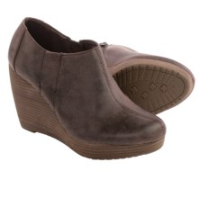Dr. Scholl's Harlie Shoes - Vegan Leather, Wedge Heel (For Women) in Dark Brown - Closeouts
