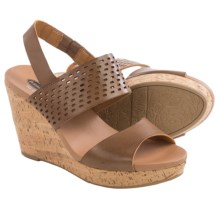Dr. Scholl's Move It Wedge Sandals (For Women) in Dark Saddle - Closeouts