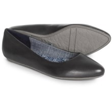 Dr. Scholl's Really Shoes - Flats (For Women) in Black Leather - Closeouts