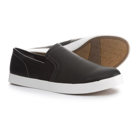Dr. Scholl's American Lifestyle Textured Sneakers - Vegan Leather (For Women) in Black