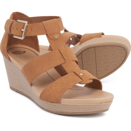 a043a1deb Dr. Scholl's Babs Wedge Sandals (For Women) in Saddle Tan