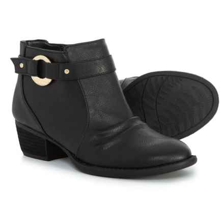 Dr. Scholl's Buckle Strap Ankle Booties (For Women) in Black