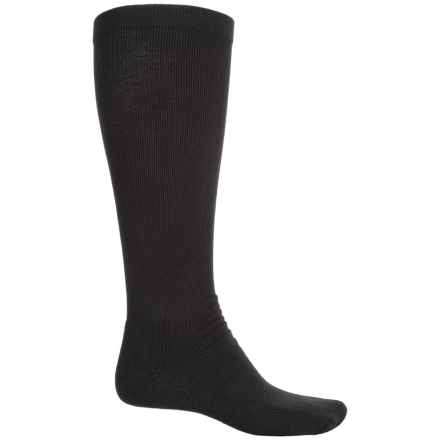 Dr. Scholl's CoolMax® Firm-Support Compression Socks - Over the Calf (For Men) in Black - Overstock