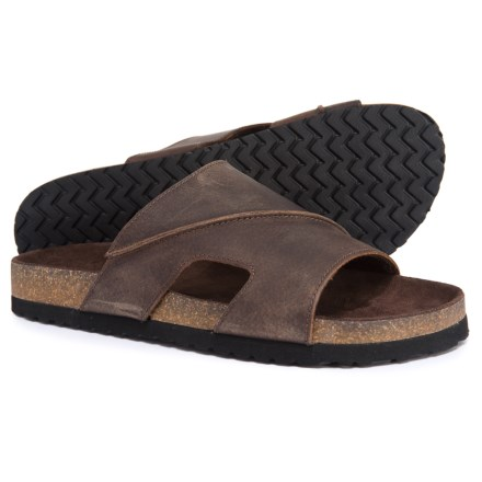 eefbf0d3a65f Dr. Scholl s Cork Footbed Sandals - Leather (For Men) in Brown