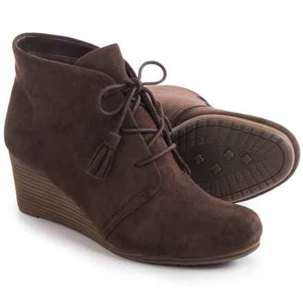 Dr. Scholl's Dakota Wedge Ankle Boots (For Women) in Brown - Closeouts