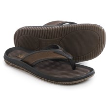 Dr. Scholl's Donnar Flip-Flops - Vegan Leather (For Men) in Brown/Black - Closeouts