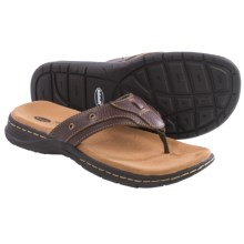 Dr. Scholl's Garth Leather Flip-Flops (For Men) in Brown - Closeouts