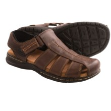 Dr. Scholl's Gaston Fisherman Sandals - Leather (For Men) in Brown - Closeouts