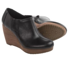 Dr. Scholl's Harlie Shoes - Vegan Leather, Wedge Heel (For Women) in Black - Closeouts