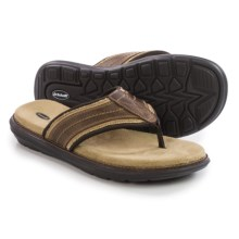 Dr. Scholl's Kip Flip-Flops - Leather (For Men) in Brown - Closeouts