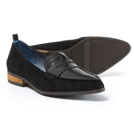 Dr. Scholl's Microfiber Loafers (For Women) in Black - Closeouts