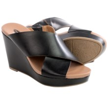 Dr. Scholl's Mixit Wedge Sandals - Vegan Leather (For Women) in Black - Closeouts