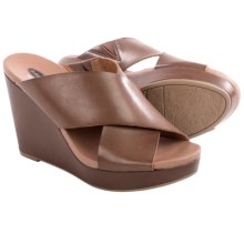 Dr. Scholl's Mixit Wedge Sandals - Vegan Leather (For Women) in Dark Saddle - Closeouts
