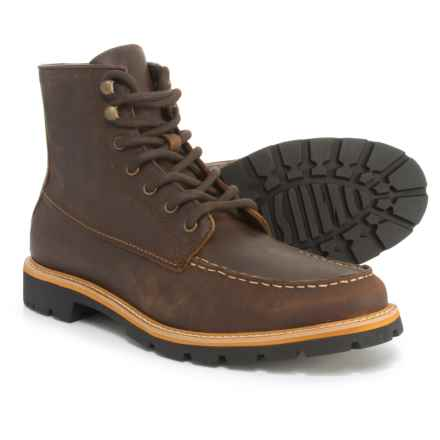 Dr. Scholl's Moc-Toe Boots - Leather (For Men) in Brown - Closeouts