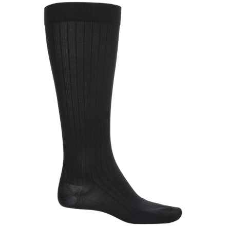Dr. Scholl's Moderate-Support Compression Socks - Over the Calf (For Men) in Black - Overstock