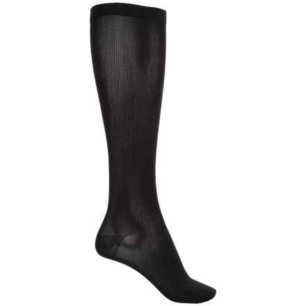 Dr. Scholl's Moderate-Support Compression Socks - Over the Calf (For Women) in Black - Overstock