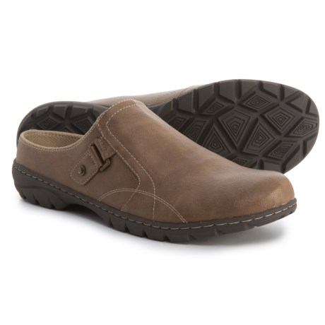 Dr. Scholl's Open-Back Clogs (For Women) in Dark Taupe