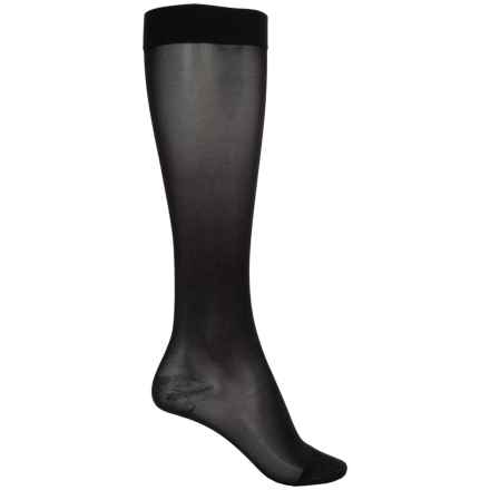 Dr. Scholl's Sheer Moderate-Support Compression Socks - Over the Calf (For Women) in Black - Overstock