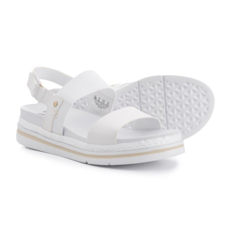Dr. Scholl's Two-Band Sandals - Vegan Leather (For Women) in White