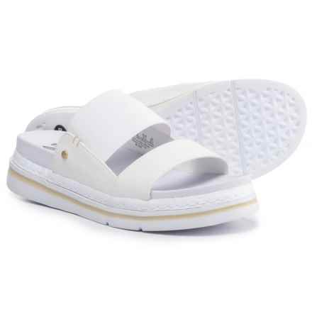 Dr. Scholl's Two-Band Slide Sandals - Vegan Leather (For Women) in White - Closeouts