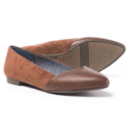 Dr. Scholl's Vegan-Leather Flats (For Women) in Copper Brown - Closeouts
