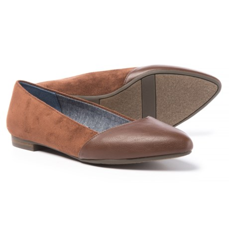Dr. Scholl's Vegan-Leather Flats (For Women) in Copper Brown