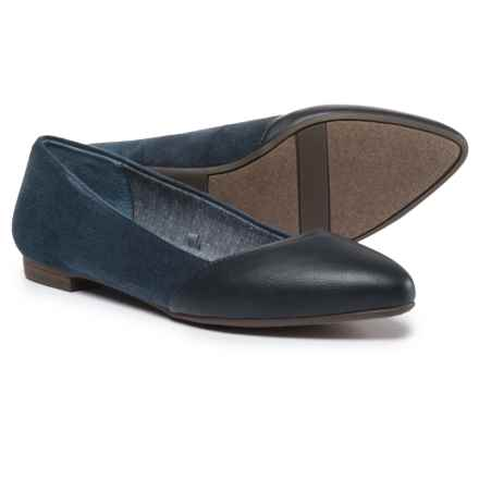 Dr. Scholl's Vegan-Leather Flats (For Women) in Navy - Closeouts
