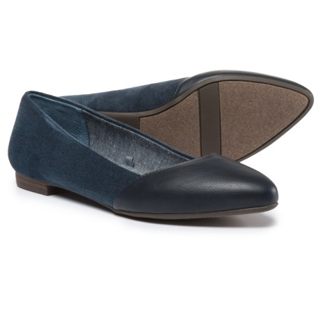 Dr. Scholl's Vegan-Leather Flats (For Women) in Navy