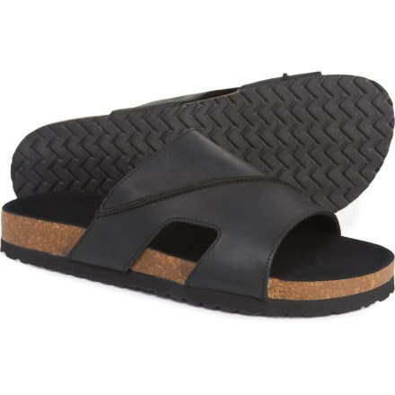 08246be0c Dr. Scholl's Wide Band Cork Footbed Sandals - Leather (For Men) in Black