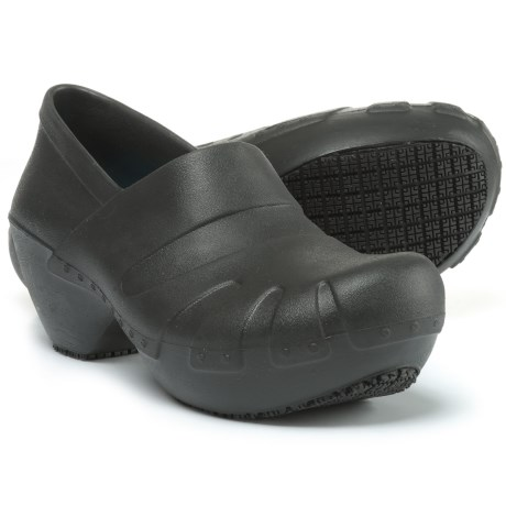 Dr. Scholl's Work Clogs - Closed Back, Oil Resistant (For Women) in Black