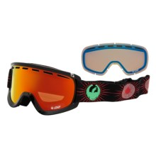 Dragon Alliance 2013 D2 Snowsport Goggles - Ionized, Interchangeable Lens in Palmsprings/Redion Yellow Blue Ion - Closeouts