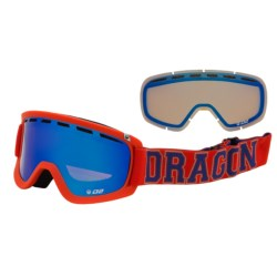 Dragon Alliance 2013 D2 Snowsport Goggles - Ionized, Interchangeable Lens in Team Spirit/Blue Steel Yellow Blue Ion