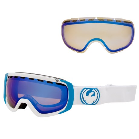 Dragon Alliance 2013 Rogue Snowsport Goggles - Ionized, Interchangeable Lens in Jet/Jet Ionized Yellow Blue Ion