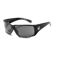 Dragon Alliance Cinch Sunglasses in Jet Clear Stripe/Grey - Closeouts