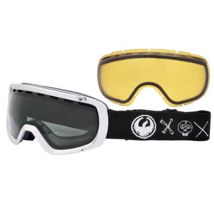 Dragon Alliance Crossbones Ski Goggles - Extra Lens in Crossbones/Dark Smoke-Yellow - Closeouts