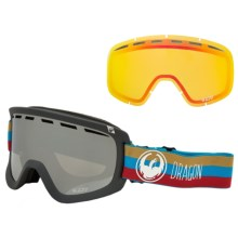 Dragon Alliance D1 Ionized Ski Goggles - Extra Lens in Layer/Mirror Ion-Yellow Red Ion - Closeouts