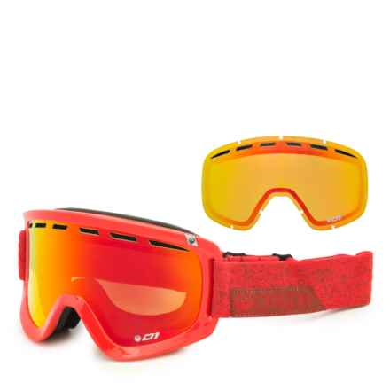 Dragon Alliance D1 OTG Ski Goggles - Extra Lens in Stone Red/Red Ion/Yellow Red - Closeouts