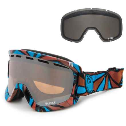 Dragon Alliance D1 Ski Goggles - Extra Lens in Structure/Ionized + Dark Smoke - Closeouts