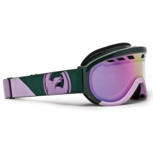 Dragon Alliance D1XT Snowsport Goggles - Ionized Lens in Angle Forest/Lavender/Pink Ionized - Closeouts