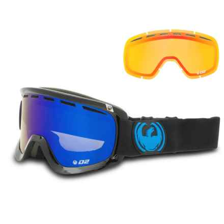 Dragon Alliance D2 Ski Goggles - Extra Lens in Jet/Dark Smoke/Blue/Yellow/Red Ion - Overstock