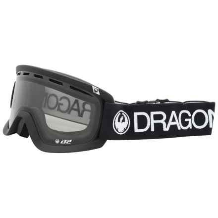 Dragon Alliance D2 Ski Goggles in Coal/Smoke - Overstock