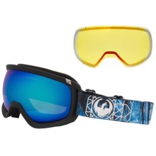 Dragon Alliance D3 Ski Goggles - Extra Lens in Dense/Blue Steel-Yellow Red Ion - Closeouts