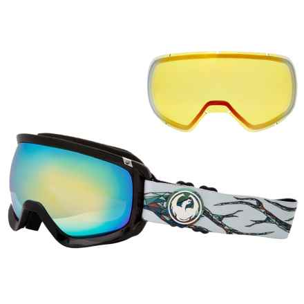 Dragon Alliance D3 Ski Goggles - Extra Lens in Form/Smoke Gold-Yellow Red Ion - Closeouts