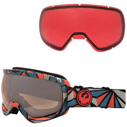 Dragon Alliance D3 Ski Goggles - Extra Lens in Structure/Rose Ionized - Closeouts