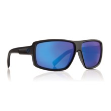 Dragon Alliance Double Dos Sunglasses - Ion Lenses in Matte Black/Blue Ion - Closeouts