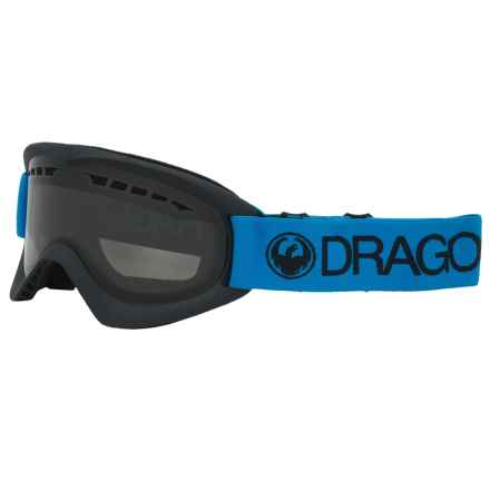 Dragon Alliance DX Ski Goggles - Smoke Lens in Azure/Smoke - Closeouts
